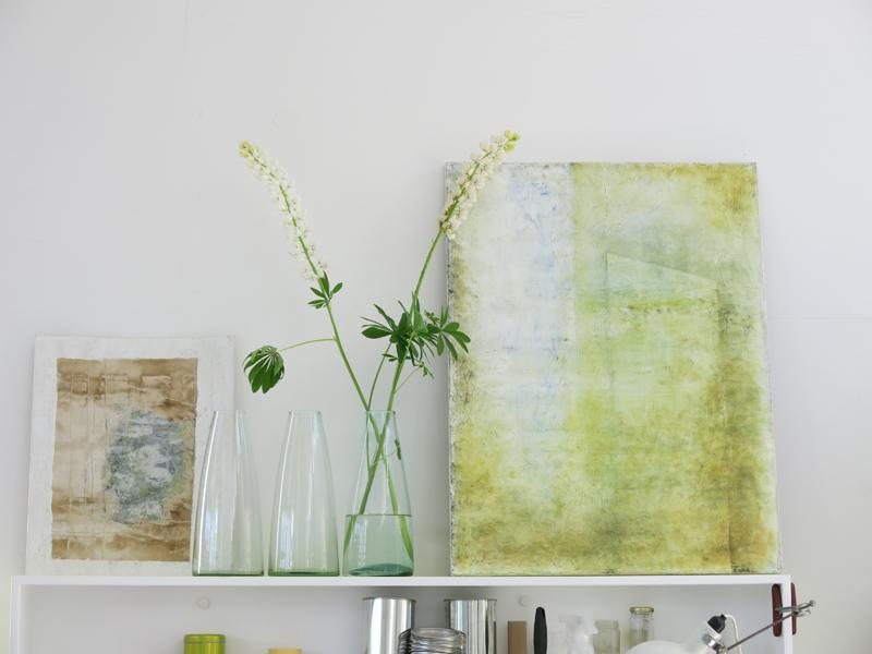 wesnaesdesign-janina-jorgensen-maleri-gult-blomster